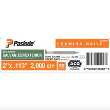 Paslode 2 x 0.113 inch Framing Nail Gun Nailer Tool 2000 Nails Box 30 Degree Box