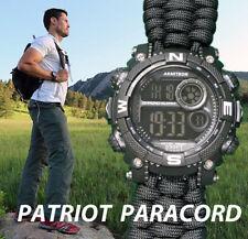 NEW! Armitron Watch w/ Handmade Paracord 550 Watch Band 40/8284BLK