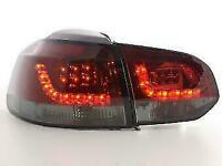 VW GOLF MK6 MK 6 2008-2012 SMOKED LED REAR LIGHTS LAMPS TAIL BACK LIGHTS