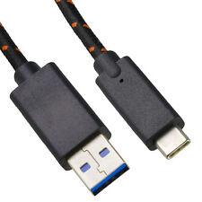 mumbi USB C Kabel auf USB Nylonkabel Daten Lade Nylon Ladekabel Datenkabel 1m