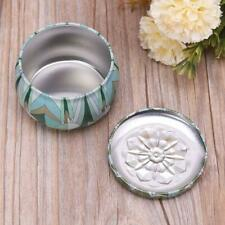 Retro Round Tin Box Jar Tea Candy Jewelry Coin Storage Container Case Candle