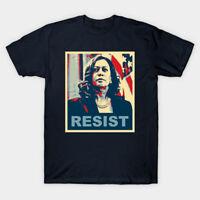 Kamala Harris Resist Black T-Shirt S-3XL