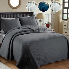 Embossed Double Sofa Cover & Bed Throw Set With Pillowcase Comforter Bedspread