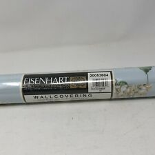 """Eisenhart Wallcoverings Wall Paper Covering Double Roll Blue Floral 33 ft x21.5"""""""