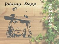 Johnny Depp Stencil 350 micron Mylar not thin stuff#Fam04