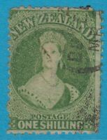 NEW ZEALAND 37B  1864 CHALON PERF 12.5 WMK LARGE STAR CV $400.00 SMALL FAULTS