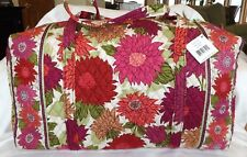 VERA BRADLEY Large Duffel Bag  Weekend Travel - HELLO DAHLIA - New with Tag