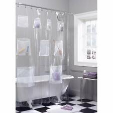 Peva Vinyl Shower Curtain Liner Mesh With Pockets Organizer 70 inche x 72 inche