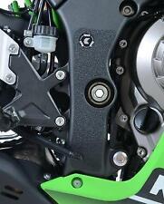 R&G Negro Bota Guardia apretones para Kawasaki ZX10-R, 2011 a 2018
