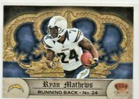 2012 Crown Royale Retail San Diego Chargers Football Card #118 Ryan Mathews