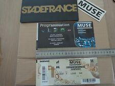 MUSE - TICKET CONCERT - BILLET PACKAGING COLLECTOR -  SDF 2013 FRANCE