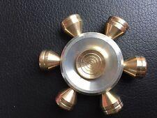 solid brass wheel metal finger hand spinner fidget spinning toy steel bearing