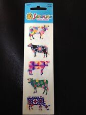 SandyLion ART COWS Sticker Small Design ART Cow Sticker PAINTED COW NEW 1 SHT