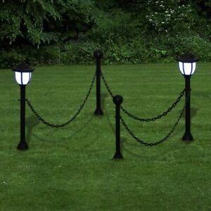 vidaXL 2x Luce Solare a LED con Paletto e Catena Lampione Lampioncino Lanterna