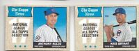2017 Topps Heritage baseball card lot Kris Bryant, Anthony Rizzo Chicago Cubs