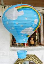 Hot Air Balloon Lightshade-Child 'S Habitación/Guardería/Playroom-Azul-Nuevo Y En Caja