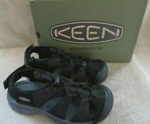 KEEN Venice II H2 Black Steel Grey Hiking Water Sandal Shoes US 7 M EUR 37.5 NWB