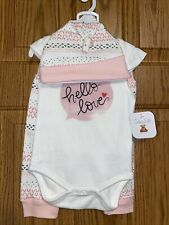 Nwt Rene Rofe Brand Girls 3pc Love outfit Sz 6/9mo