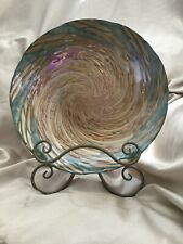 """16"""" Diameter Green and Gold Beautiful Centerpiece Plate/Bowl made in Turkey"""