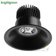 NEW BRIGHTGREEN D700+ CURVE 12w LED DOWNLIGHT BLACK ROUND 3000K WARM 90mm CUTOUT