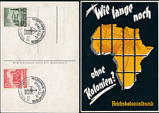 1940 Teplitz Germany Lost Colonies Postcard Cover