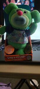 Fisher Price Mattel 2011 Green Sing-A-Ma-Jigs~ Plush