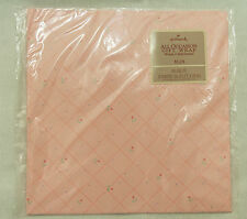 Vintage NOS Hallmark Pink With Flowers Gift Wrap Wrapping Paper 2 Sheets New