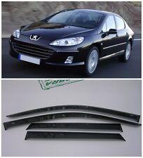 For Peugeot 407 Sd 2004-2010 Side Window Visors Sun Rain Guard Vent Deflectors