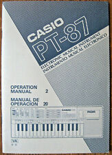 Casio PT-87 Casiotone Keyboard Owner's User's Operation Manual, Original Casio