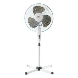 "Lakewood 16"" 3-speed Oscillating Fan, White"