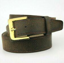 "Brown Textured Vintage Retro Belt Gold Buckle Fits 36""-38"""