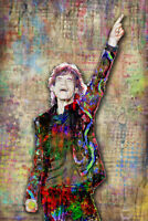 MICK JAGGER Rolling Stones Music Art 12x18 Poster, Stones Tribute Free Shipping
