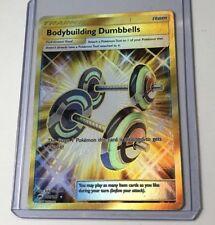 Pokemon Bodybuilding Dumbbells Burning Shadows 161/147 Secret Rare Nr Mint