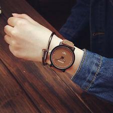 Fashion Womens Watches Steel Leather Quartz Analog Couple wristwatch US