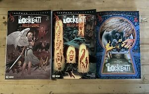 SIGNED Locke & Key Sandman Hell & Gone #2 Set A,B and C Covers dent&creased