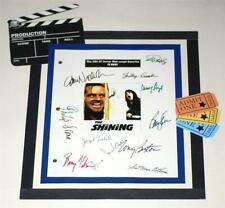 The Shining Signed Script Reprint Stephen King, Jack Nicholson, Shelley Duvall