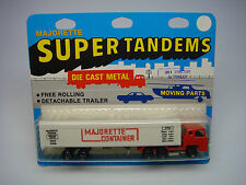 VINTAGE MAJORETTE-SUPER TANDEMS-SEMI TRACTOR TRAILER-#361-MADE IN FRANCE-