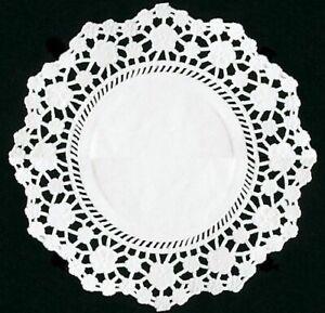 250 WHITE ROUND DISPOSABLE PAPER DOILIES 11.4 X 11.4 CM WEDDING BIRTHDAY PARTY