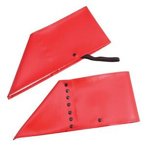 Red Spats Gangster Brogues Fancy Dress Shiny Shoe Covers 1920S Elf Cosplay