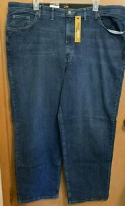 Mens Lee Loose Fit 48x34 stretch denim jeans Custom Fit Waist NWT $70