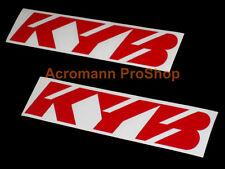 2x 6inch 15.2cm KYB shock decal sticker Kayaba Kawasaki Yamaha Suzuki car vinyl