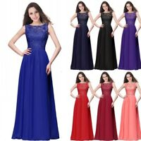 Stock Wedding Bridesmaid Dress Lace Chiffon Women Formal Evening Prom Party Gown