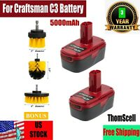 2Packs 19.2Volt 5000mAh Lithium Ion Battery for Craftsman C3 Battery 130279005