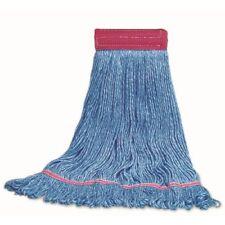 """Nassco Pro Series All-Purpose Wet Mop, Lg, Blue, 1"""" Headband w/Tailband, 1 Each"""