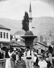 New 8x10 Photo - Peasants Mosque Minaret Sarajevo Bosnia Austria-Hungary 1910