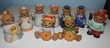 Lot of 9 Homco Bear Figurines 3 Halloween/Thanksgiving 8805 1426 Collectibles