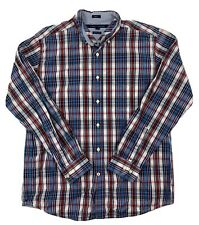 Tommy Hilfiger Mens Classic Fit Cheers Long Sleeve Plaid Button Down Shirt Large