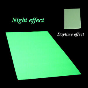 Glow In The Dark Sticker Self Adhesive Tape A4 Sheet Z0N5 Sign New Making T6D1