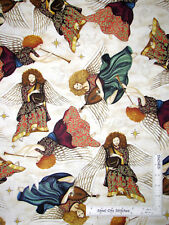 Religious Angel Heaven Angels Wings Cream Cotton Fabric QT Heavenly - Yard
