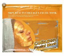 x2 Gold Collagen face mask Brightens, moisturises, repairs, Hyaluronic acid NEW
